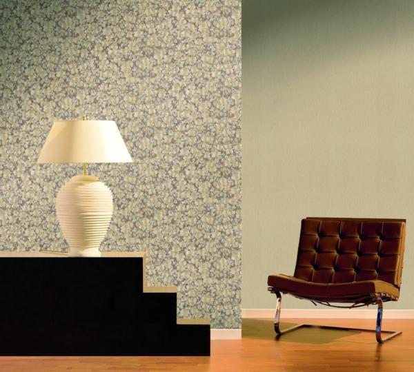 tapetenmuster tischlampe couch leder