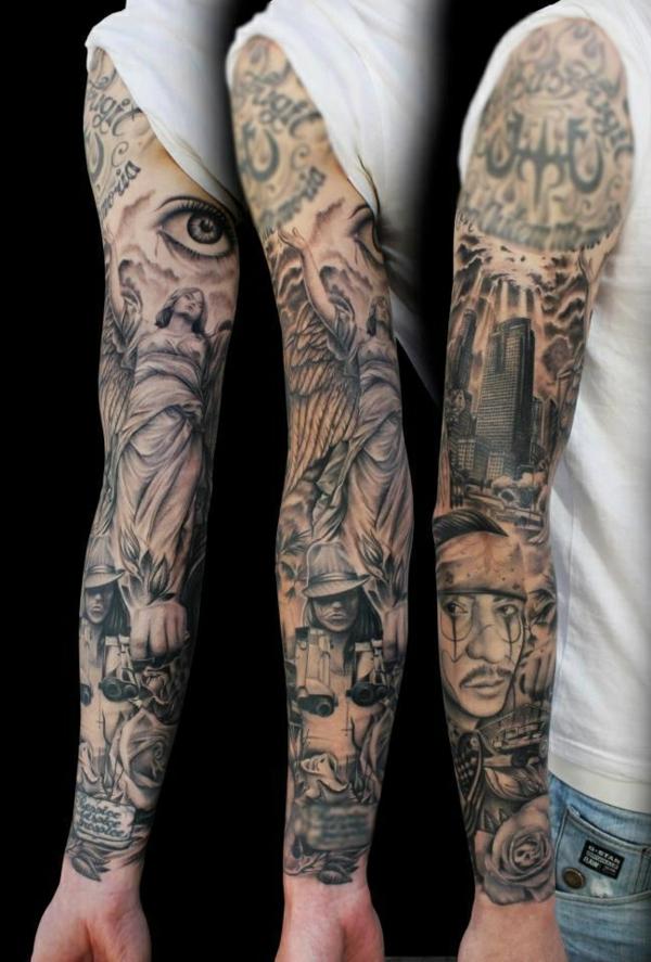 tattoo ideen oberarm unterarm ärmel