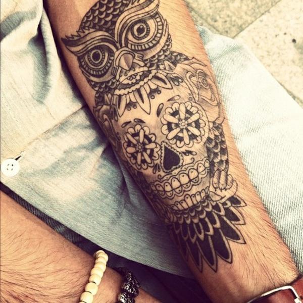 tattoo motive oberarm eulen