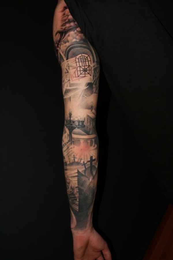 Jesus Tattoo Designs Sleeve