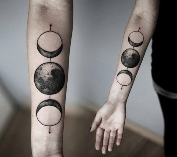 tattoo motive oberarm mond