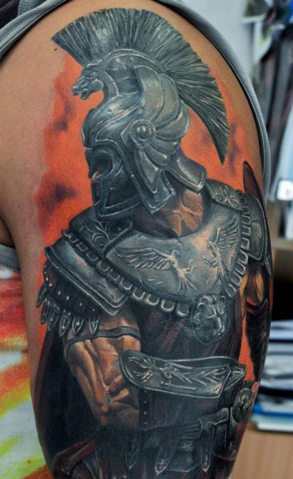 tattoo motive oberarm warior