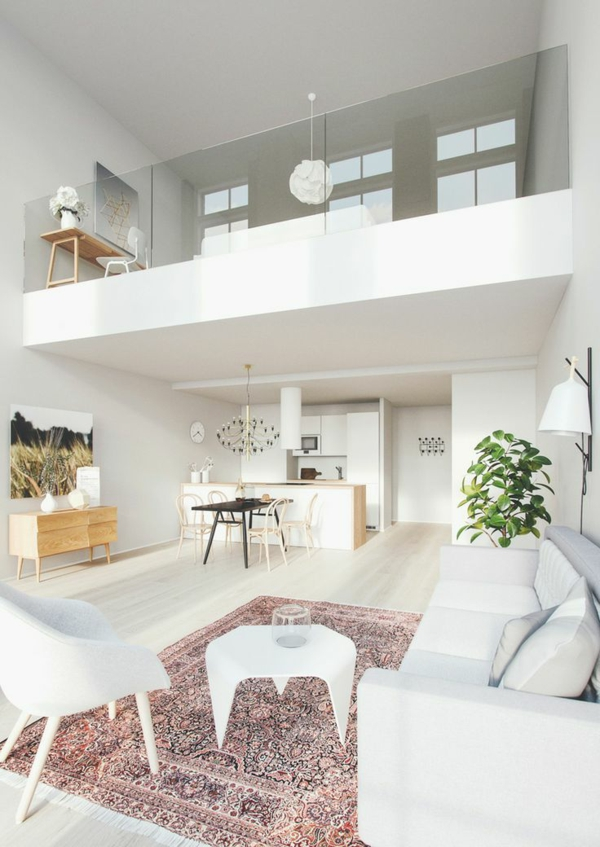 moderner teppich wohnzimmer einrichtung perserteppich
