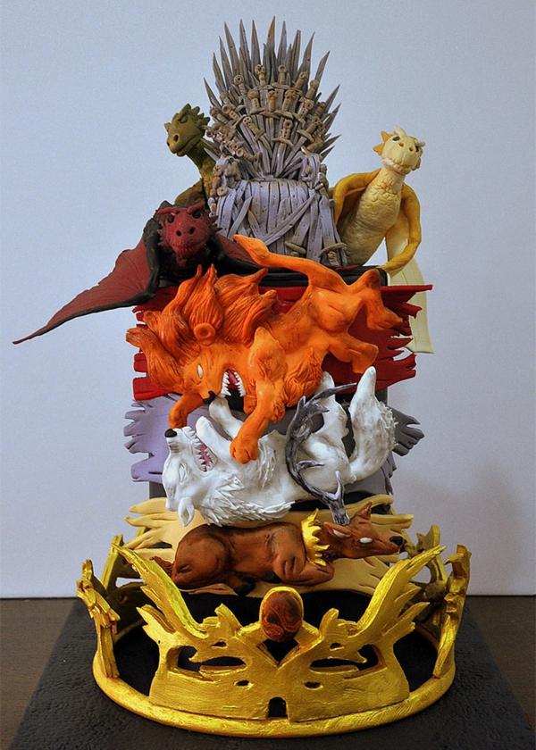 torte dekoration drachen löwe wolf