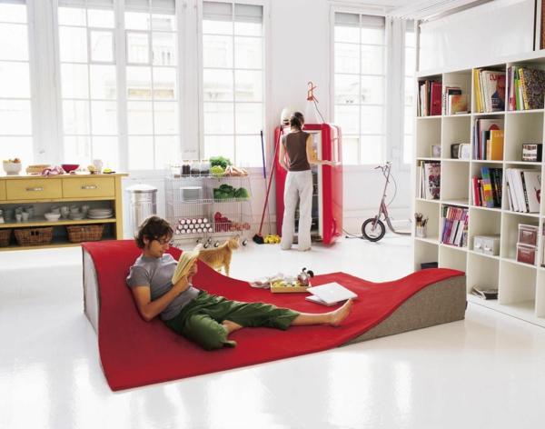 moderner teppich modern rot ergonomisch wolle archiexpo.es