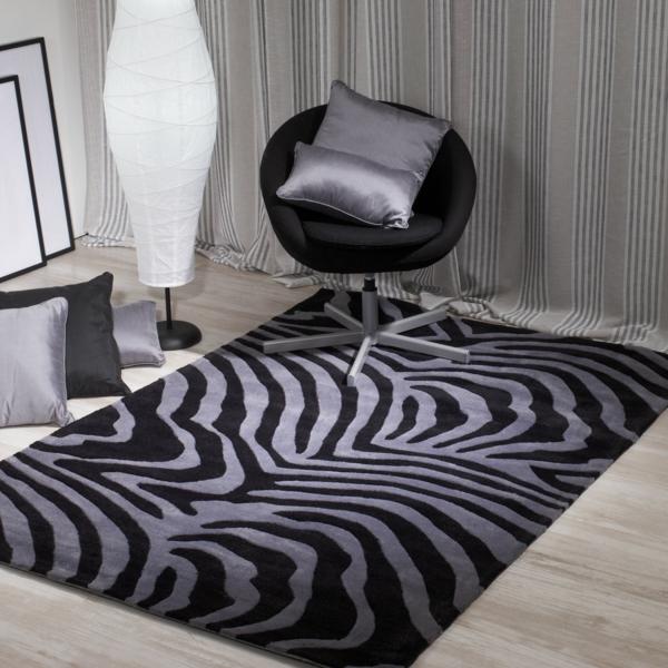 traumteppich modern schwarz grau zebra muster sancarlos.es
