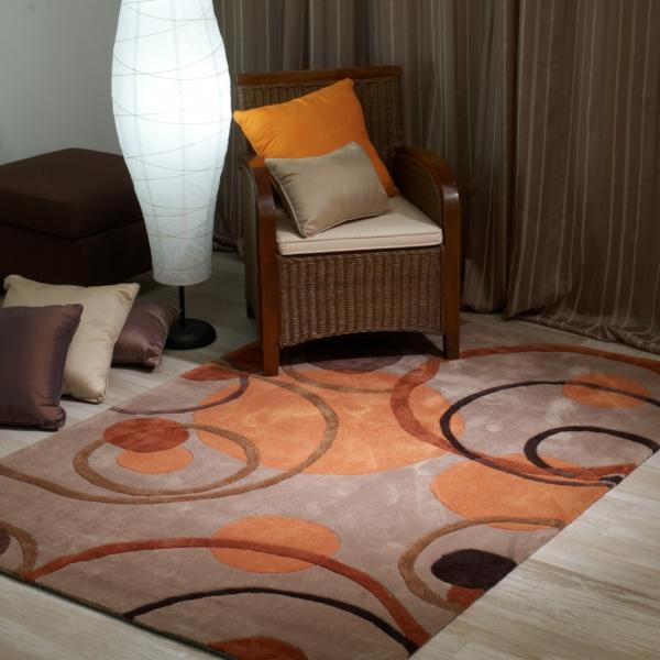 traumteppich modern warme farbtöne sancarlos.es