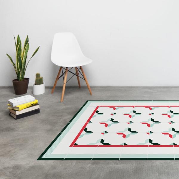 moderner teppich modernes design mosaik duquessa hidrauliktiles