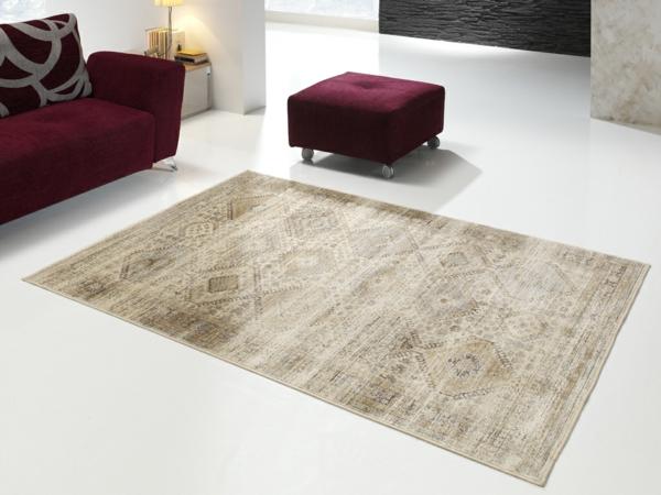moderner teppich neutrale farben vintage design universalxxi.es