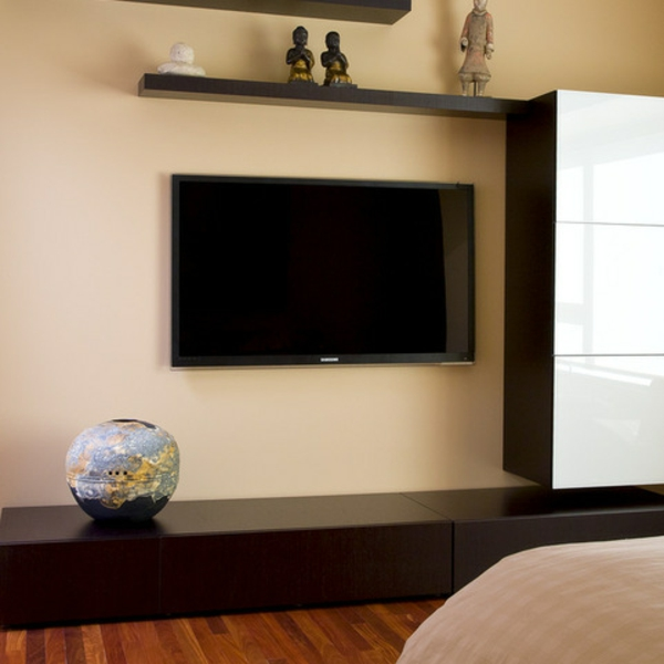 tv klare linien schrankwand fernsehschränke wand
