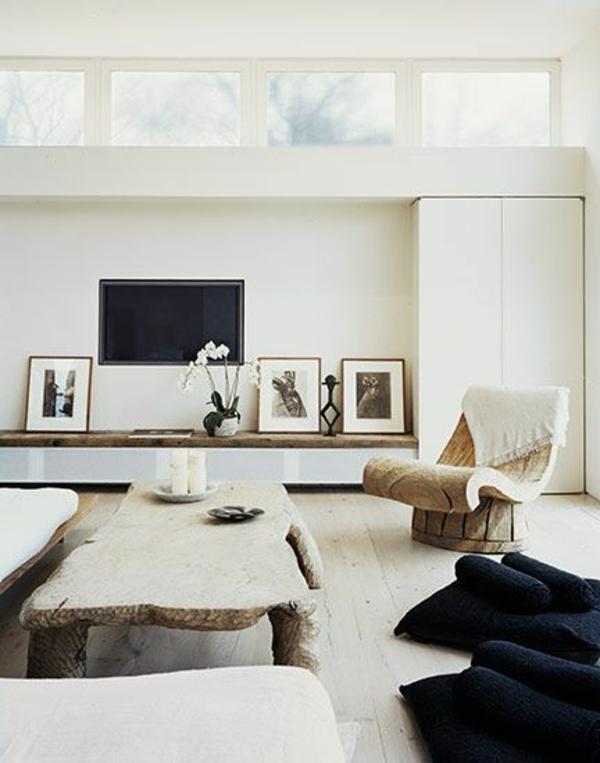 tv schrankwand weiß fenster licht farben einrichtung