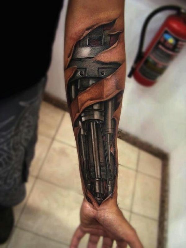 unterarm tattoo vorlagen bio mechanik