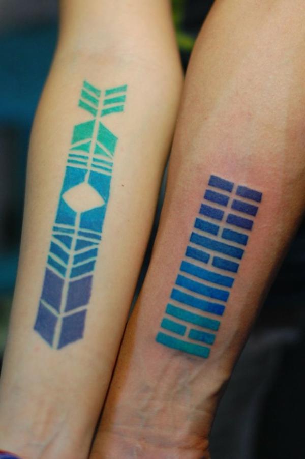 unterarm tattoo vorlagen blau lila