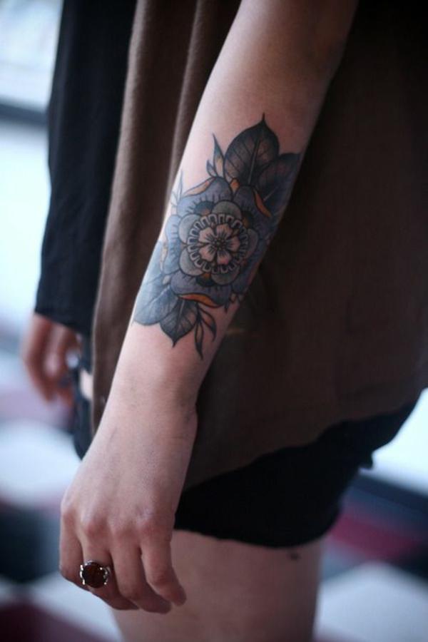 unterarm tattoo vorlagen blumen