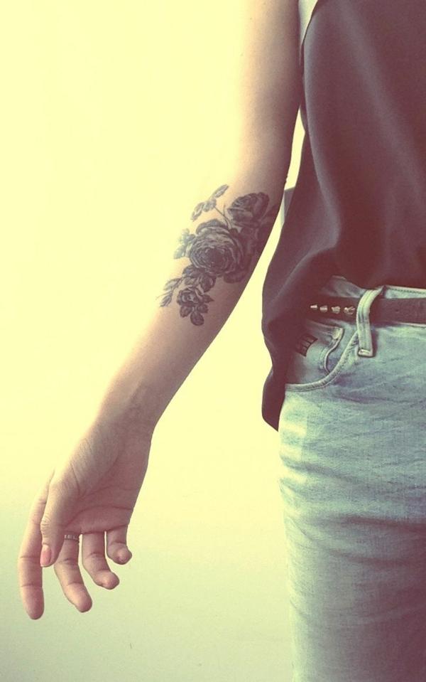vorlagen garten unterarm tattoo blumen
