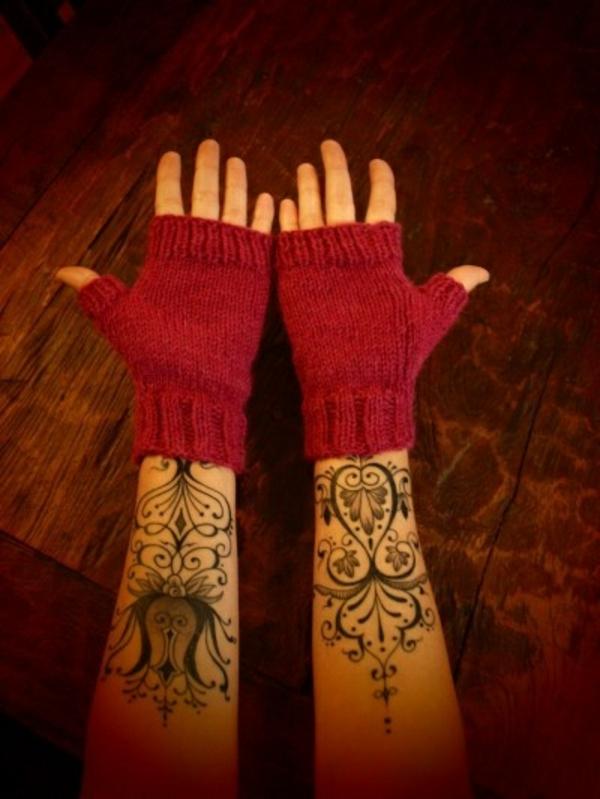 unterarm tattoo motive vorlagen handschuhe