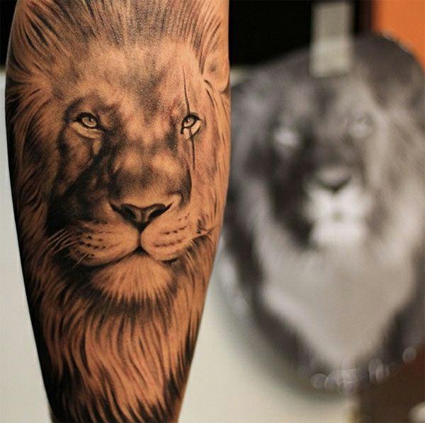 unterarm tattoo vorlagen löwe macht