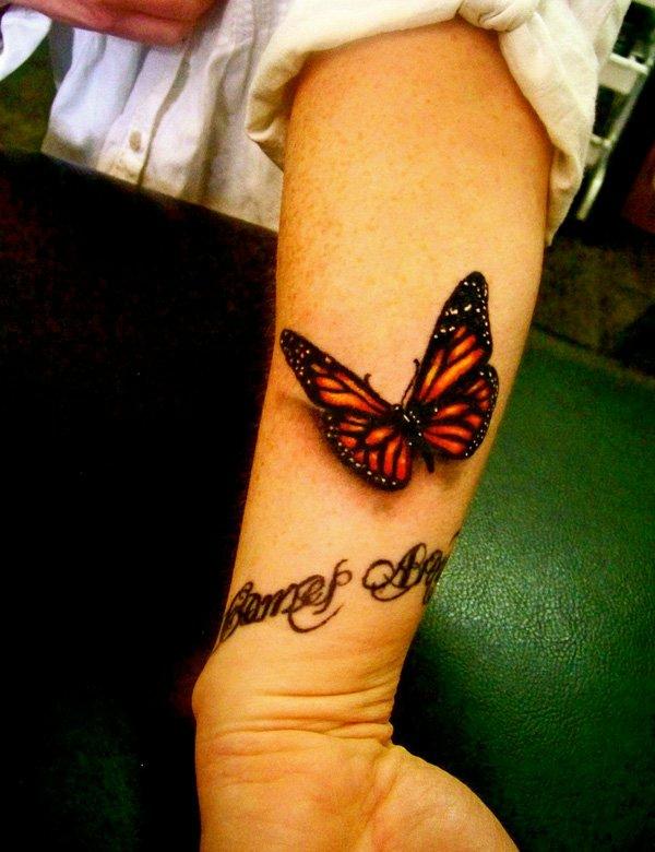 unterarm tattoo vorlagen schmetterling