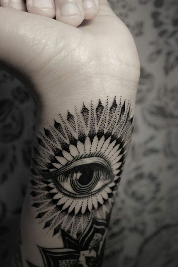 unterarm tattoo vorlagen sehen augen