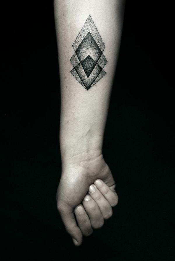 unterarm tattoo vorlagen simpel geometrisch