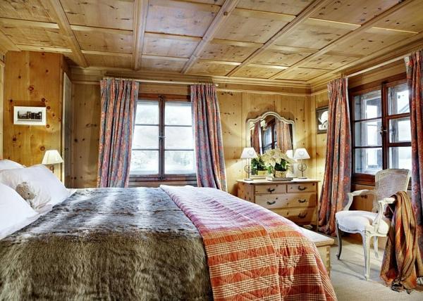 urlaub ferienwohnungen  schweizer alpen schlafzimmer design