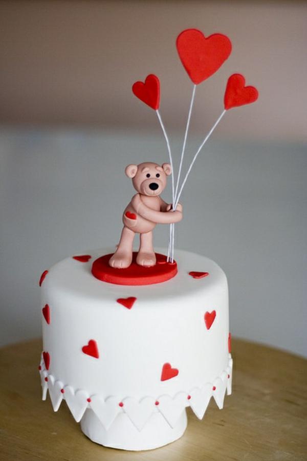 valentinstag torte bärchen herze
