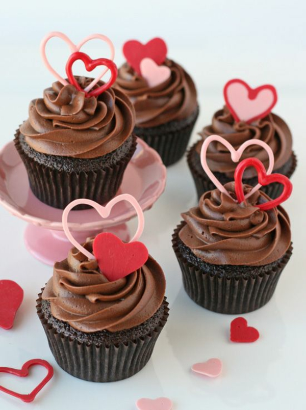 Valentinstagstorte cupcake vollmilchschokolade