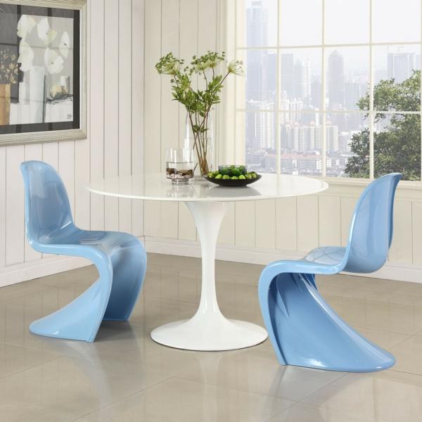 verner panton chair blau danisch design möbel
