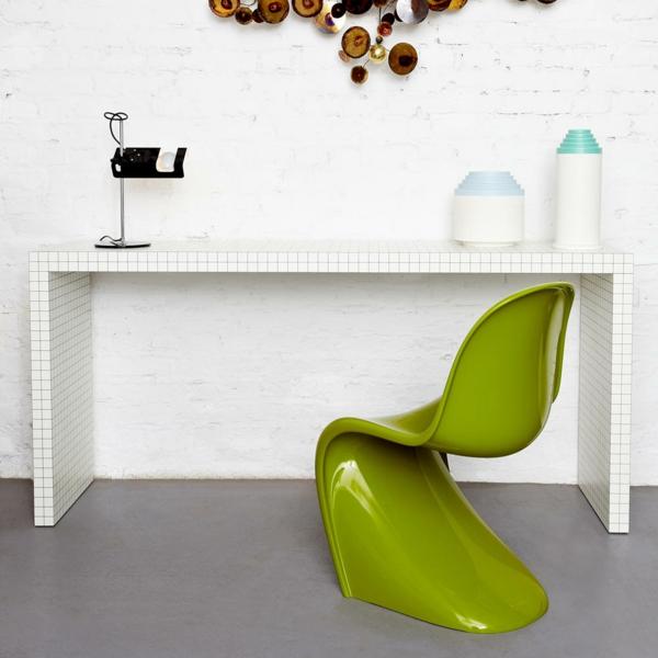 verner panton chair grün danisch design möbel