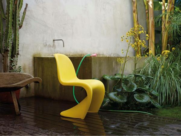 verner panton chair gelb danisch design möbel