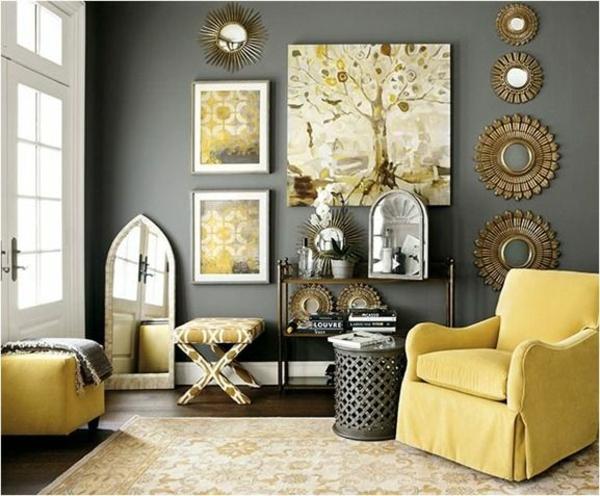 design : wohnzimmer grau gelb ~ inspirierende bilder von ... - Wohnzimmer Deko Gelb