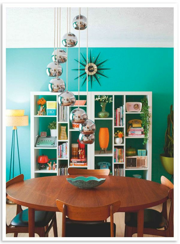 wohnzimmer grün türkis:Wandfarbe Türkis für ein modernes Zuhause