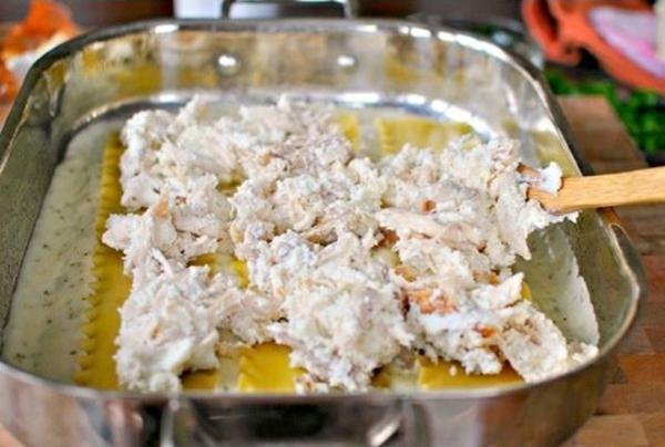 was koche ich heute Spinat Lachs Lasagne im blech