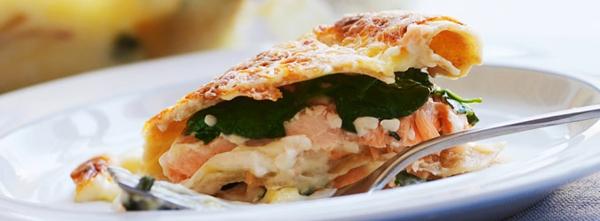 was koche ich heute Spinat Lachs Lasagne