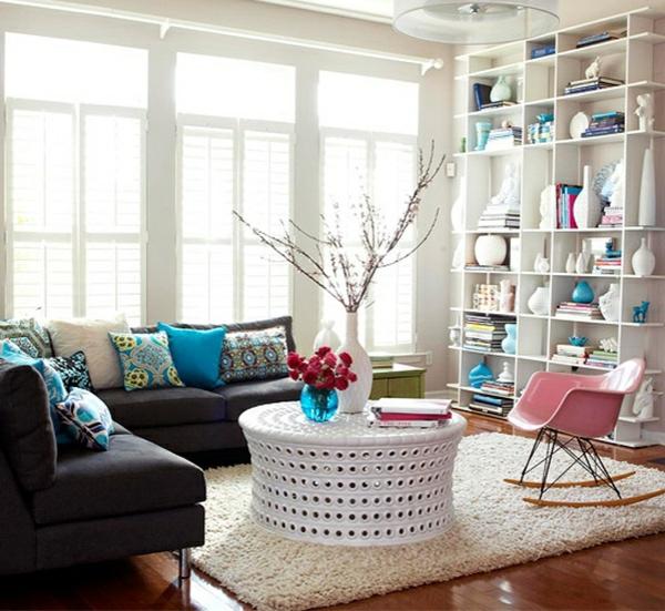 weißer couchtisch dekorieren wohnzimmertische deko ideen
