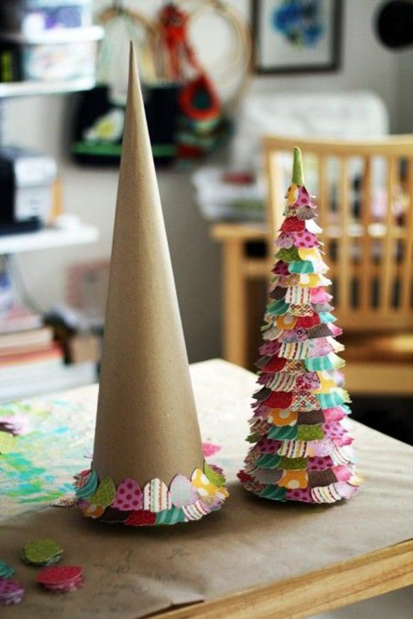 Superb Weihnachtsbaumschmuck Basteln Christbaum Selber Machen Pappe Buntpapier Design