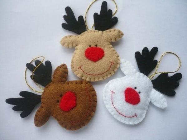 weihnachtsbaumschmuck basteln mit filz diy ideen weihnachtshirsche