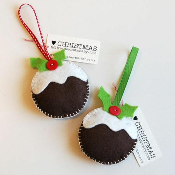 weihnachtsbaumschmuck basteln mit filz weihnachtskugeln selber machen