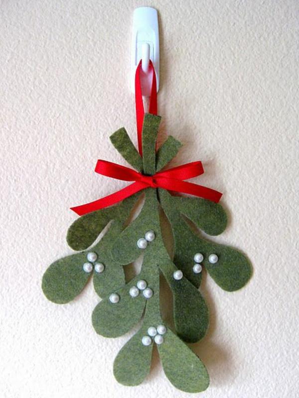 weihnachtsbaumschmuck basteln mit filz