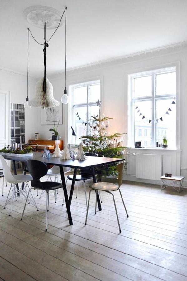 weihnachtsbaumschmuck basteln mit papier girlanden