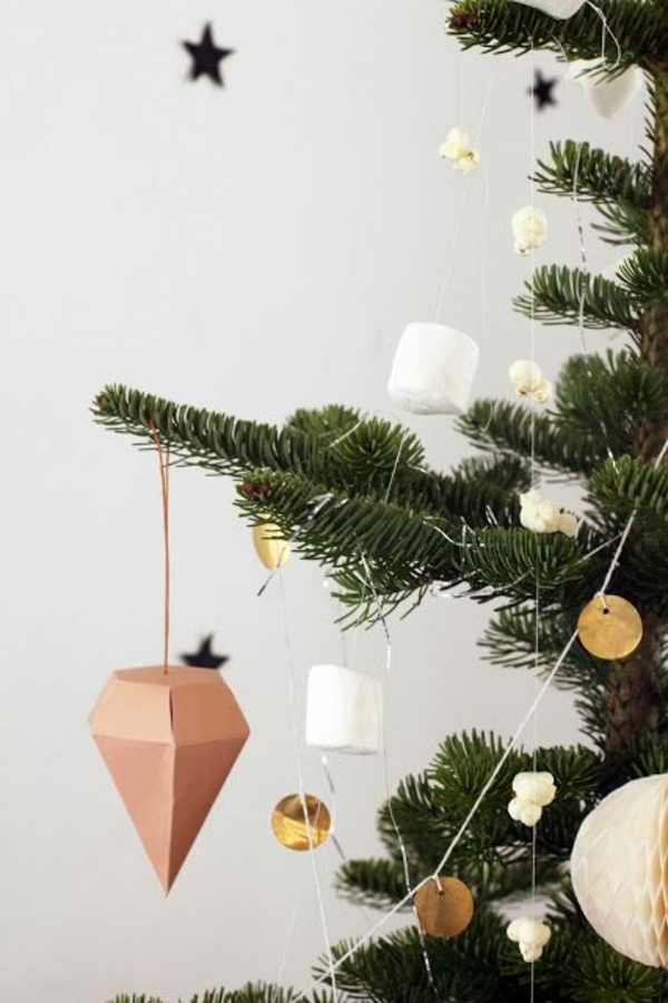 weihnachtsbaumschmuck basteln tannenbaum schmücken