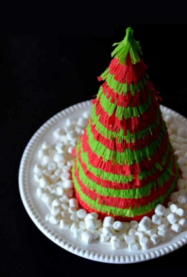 weihnachtsbaumschmuck christbaum selber machen pappe buntpapier