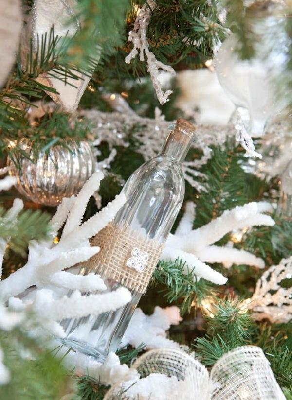 weihnachtsbaumschmuck tropischer art hanfgewebe rustikale deko ideen