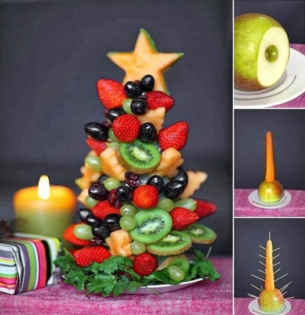 weihnachtsbaumschmuck tropischer art obst baum