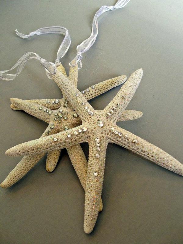 weihnachtsdeko basteln weihnachtsstern meerstern deko ideen