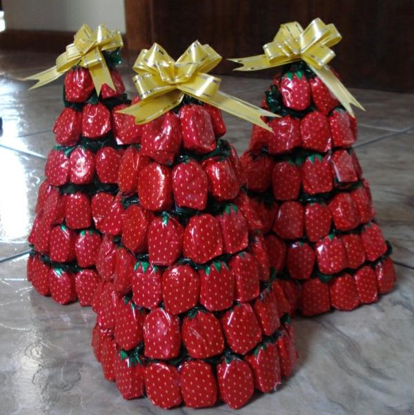 weihnachtsdeko tropischer art süßigkeiten kaubonbons erdbeer