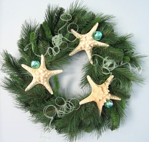 weihnachtsdeko tropischer art türkranz weihnachten