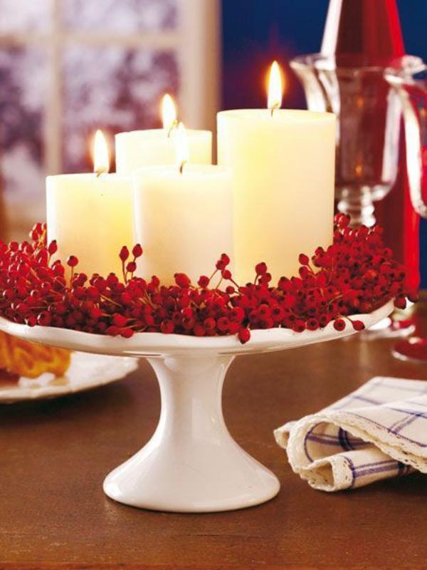 weihnachtsdeko ideen adventskranz hagebutten