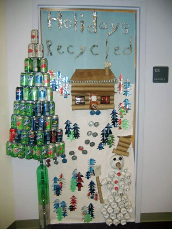weihnachtsdekoration ideen rezykliert
