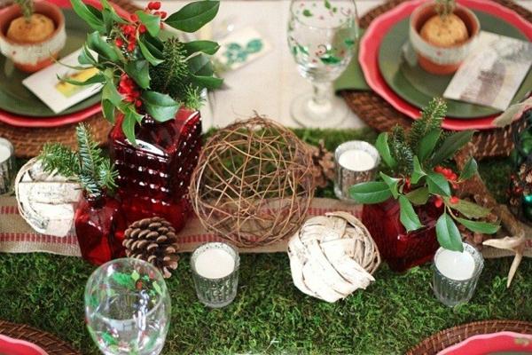 weihnachtsdeko ideen rustikal windlichter